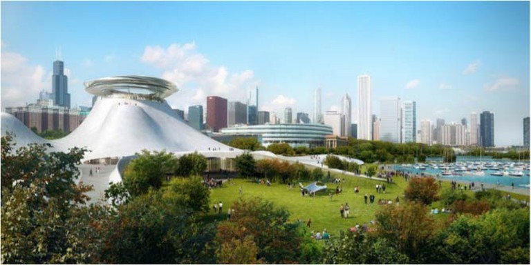 MAD Architects Unveil Mountainous Design for Lucas Museum in Chicago | © Lucas Museum of Narrative Arts/WikiCommons