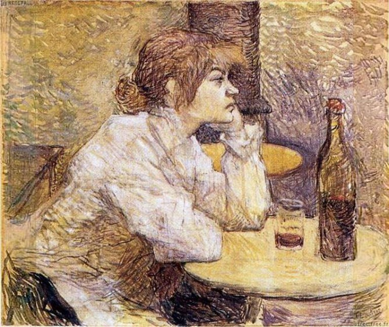 Toulouse Lautrec's 'Hangover' featuring Suzanne Valadon