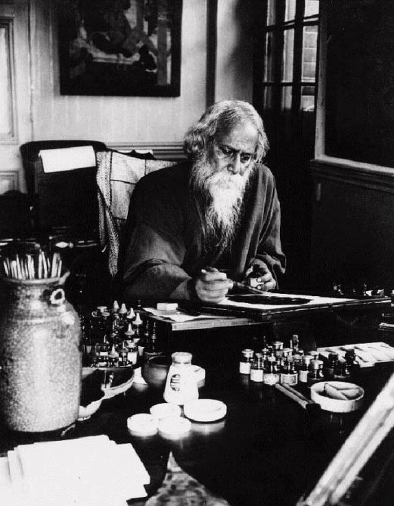 Rabindranath Tagore (first Asian to win the Nobel Prize in literature in 1913)