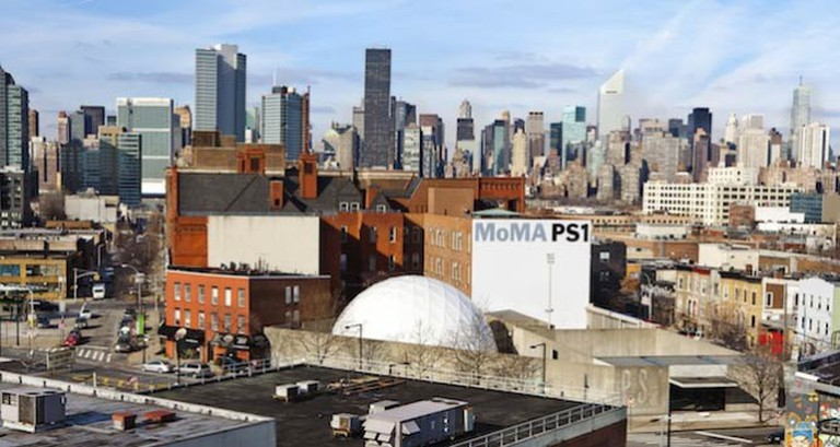 MoMA PS1 Exterior and Performance Dome