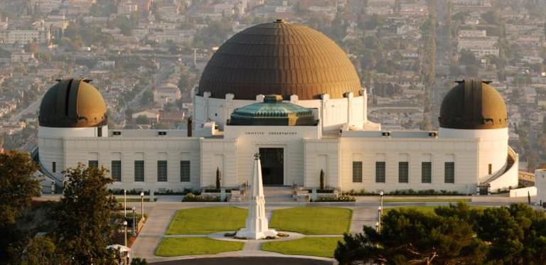 Griffith Park Observatory and the city below.