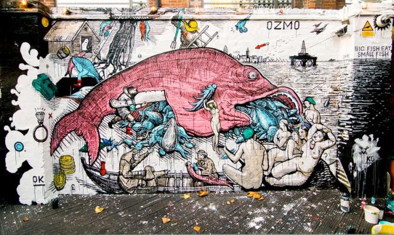 Big Fish Eat Small Fish, Cargo garden, Rivington st. London 2011 | © Petra Valenti
