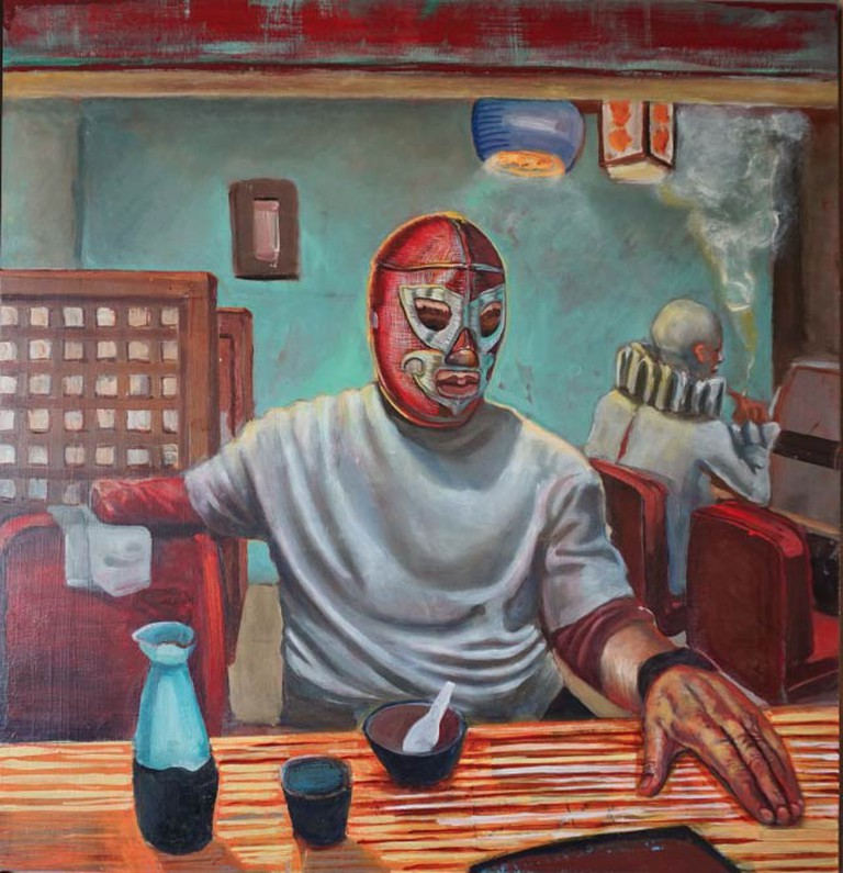 Los Olvidados. Oil on panel, 20 x 20.75 in. 2013.