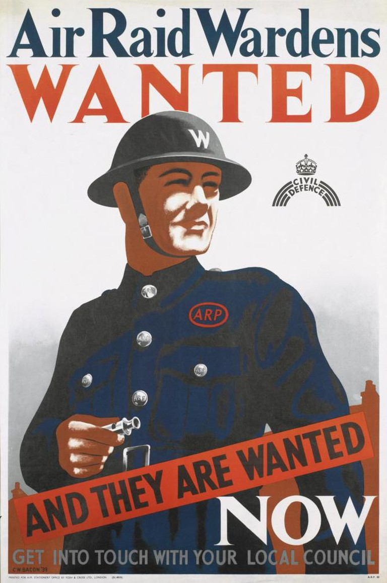 Air Raid Wardens Wanted by Cecil Beaton   Courtesy The Imperial War Museum