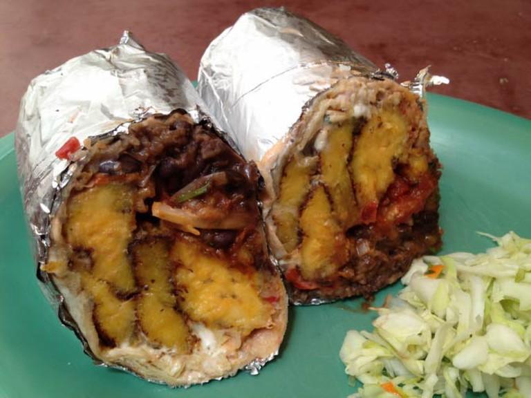 Fried Plantain Burrito | © The Little Chihuahua
