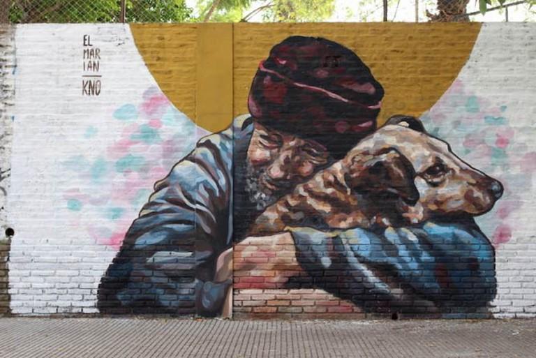 Mural painted by El Marian in Coghlan | © Buenos Aires Street Art