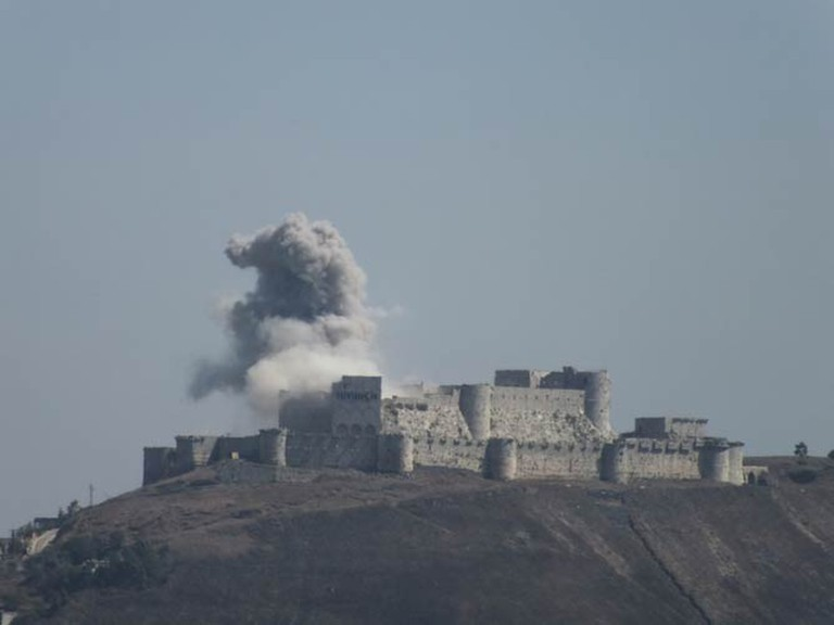 Krak des Chevaliers under fire | © Syria963/WikiCommons