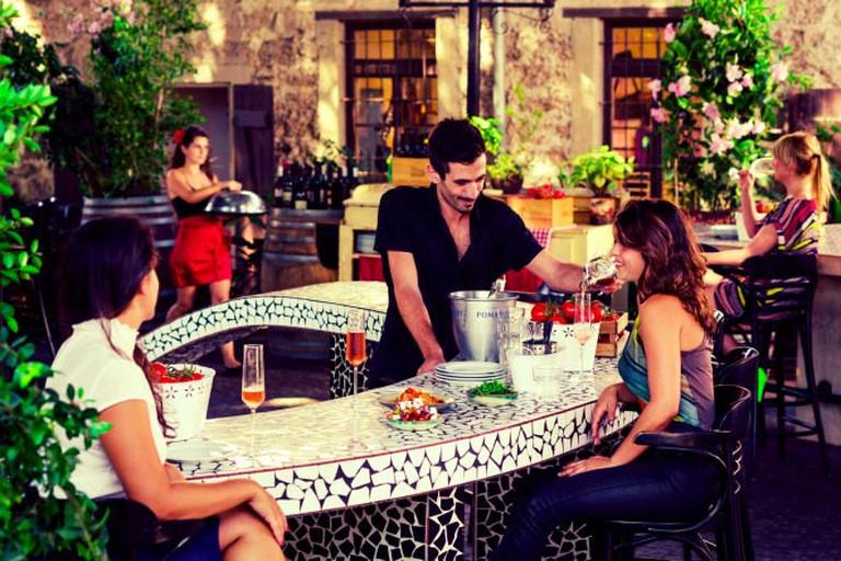 Charming Outdoor Patio Bar