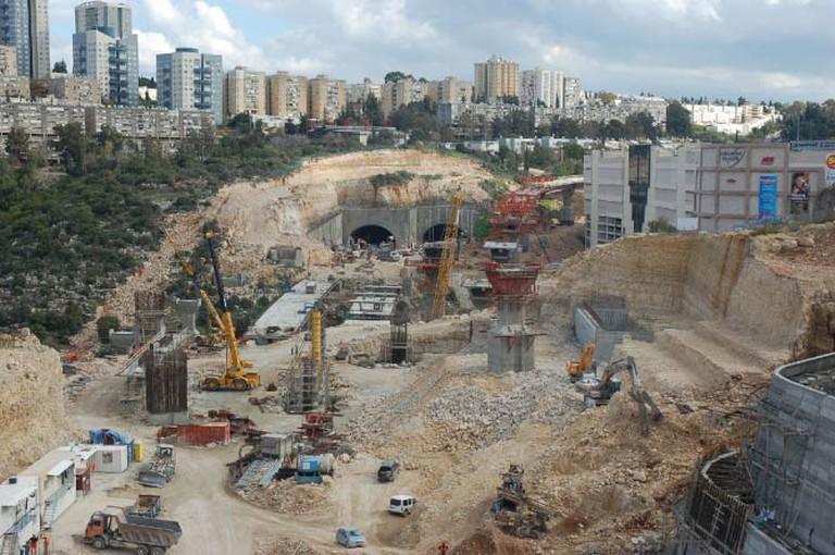 Construction of the impressive Carmel Tunnels