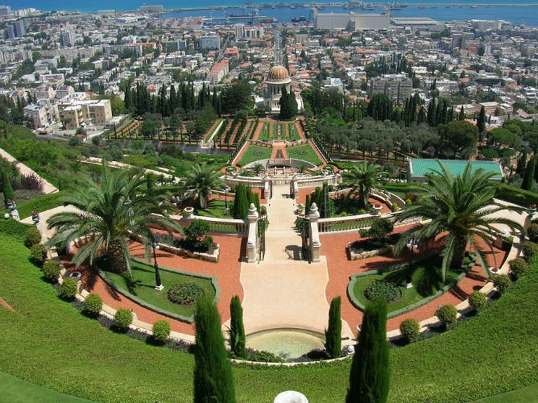 The Baha'i Gardens from Above
