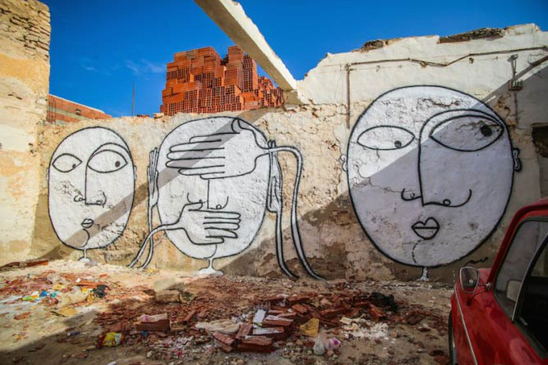 Mural in the Djerbahood Project by artist Wissem | Photo © Aline Deschamps - Galerie Itinerrance