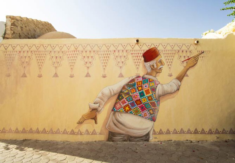 Mural in the Djerbahood Project by artist Mario Belem | Photo © Aline Deschamps - Galerie Itinerrance