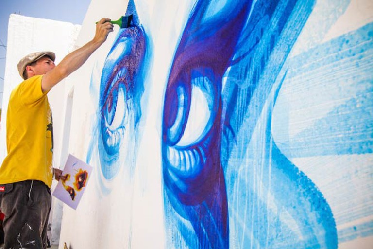 Mural in the Djerbahood Project by artist Dan23   Photo © Aline Deschamps - Galerie Itinerrance