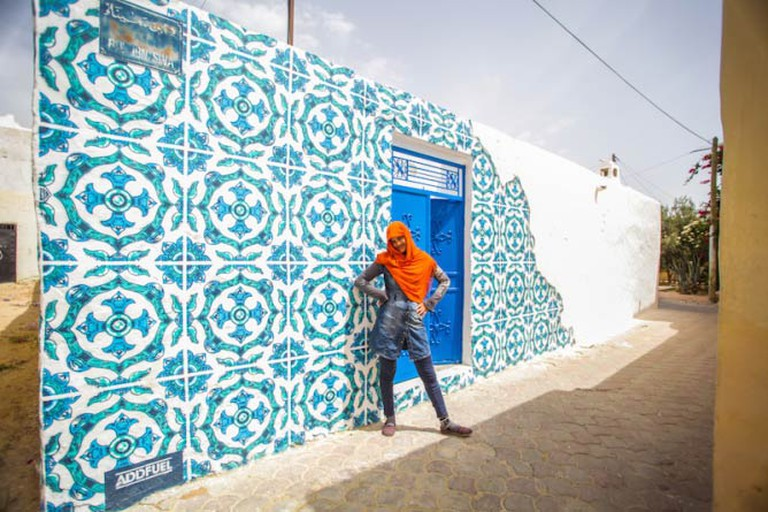 Mural in the Djerbahood Project by artist Add Fuel | Photo © Aline Deschamps - Galerie Itinerrance