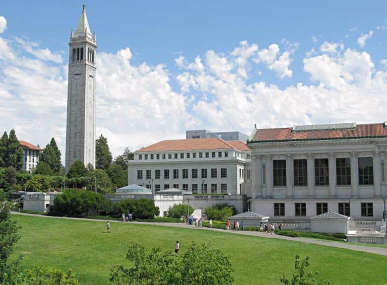 UC Berkeley clock tower overlooking the campus