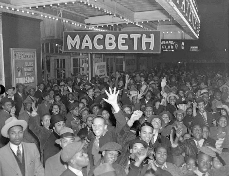 Opening of the Federal Theatre Project production of Macbeth at the Lafayette Theatre, Harlem, 1936 | © Federal Theatre Project/WikiCommons