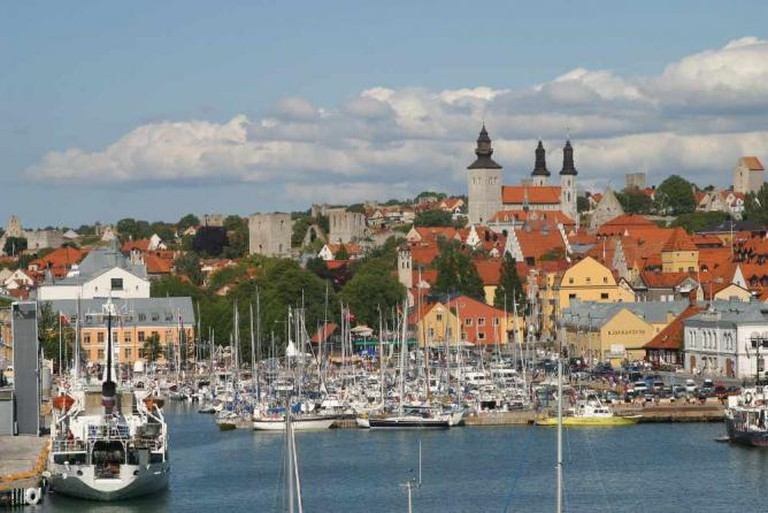 Visby from the sea