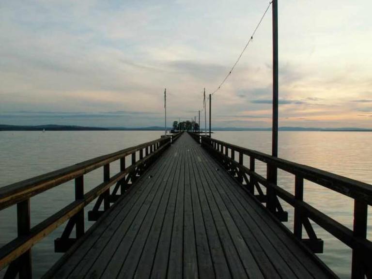 Långbryggan pier, Rättvik