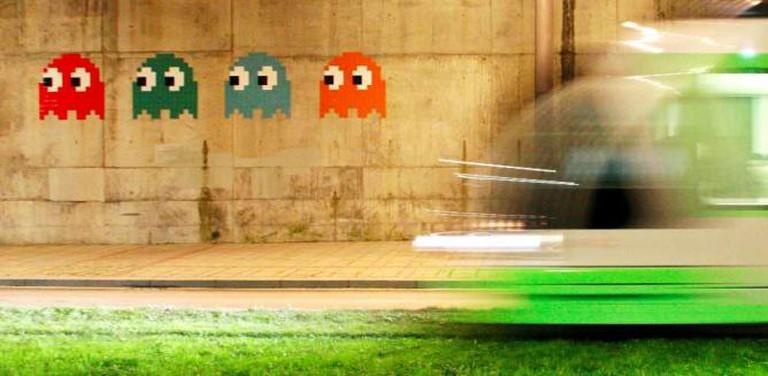 Invader: Photo credit kurtxio@Flickr photo taken out side the Guggenheim