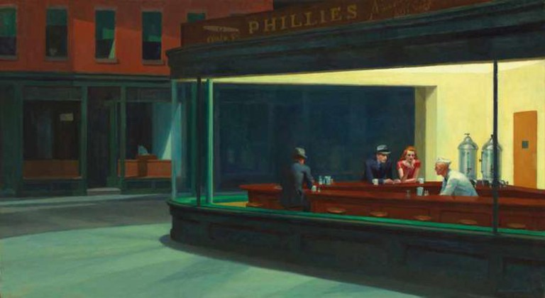 'Nighthawks' (1942) by Edward Hopper | © Canoe1967/WikiCommons
