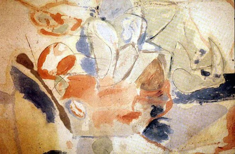 'Mountains and Sea' (1952) by Helen Frankenthaler | © DASHbot/WikiCommons