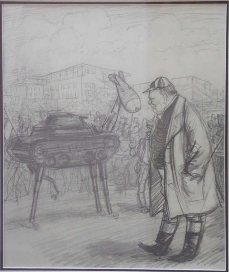 Winston Churchill by Ernest Howard Shepard © Chelsea Art Fair