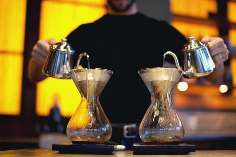 Pour over coffee from Coava | © Jelani Memory