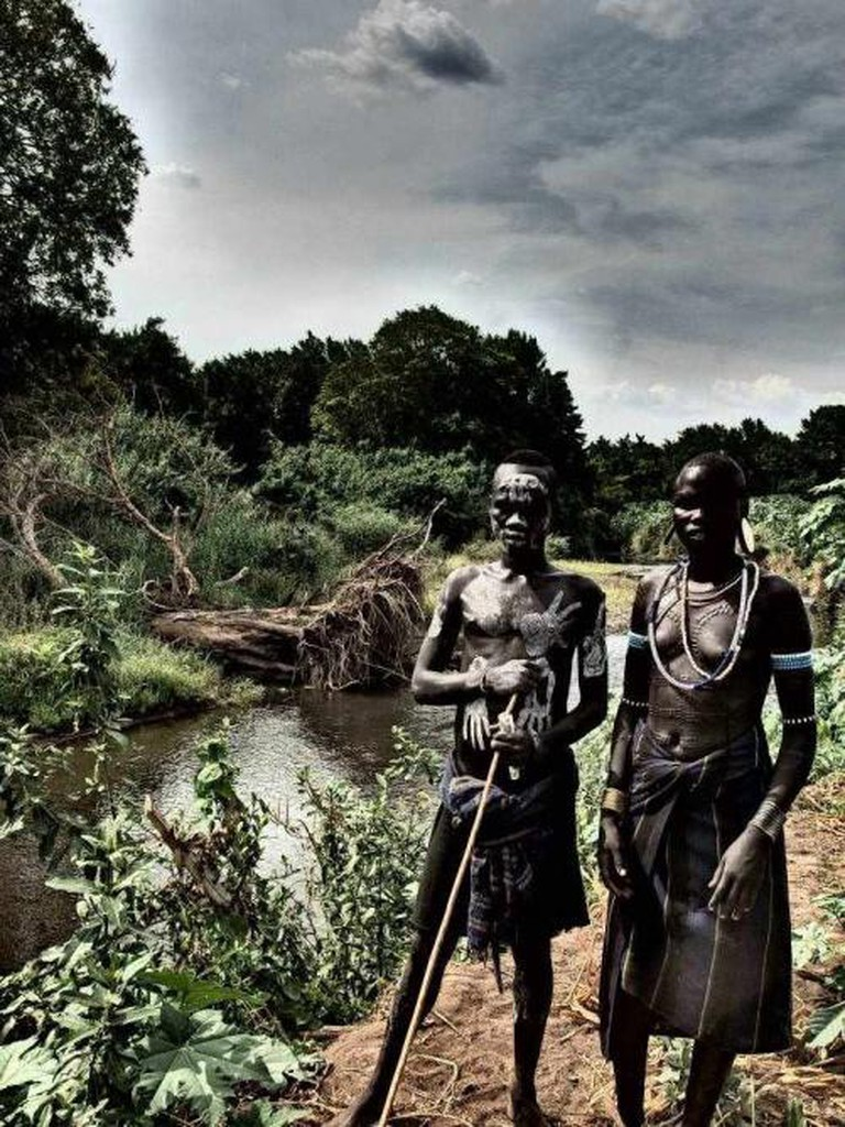 Mursi by the Omo River