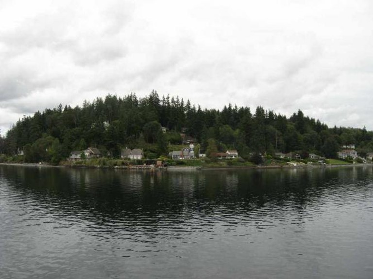 Bainbridge Island seen from the ferry