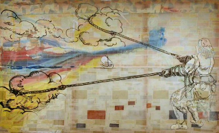 'Hope is: Wanting to Pull Clouds' (1992) by Sigmar Polke | © Cliff/Flickr
