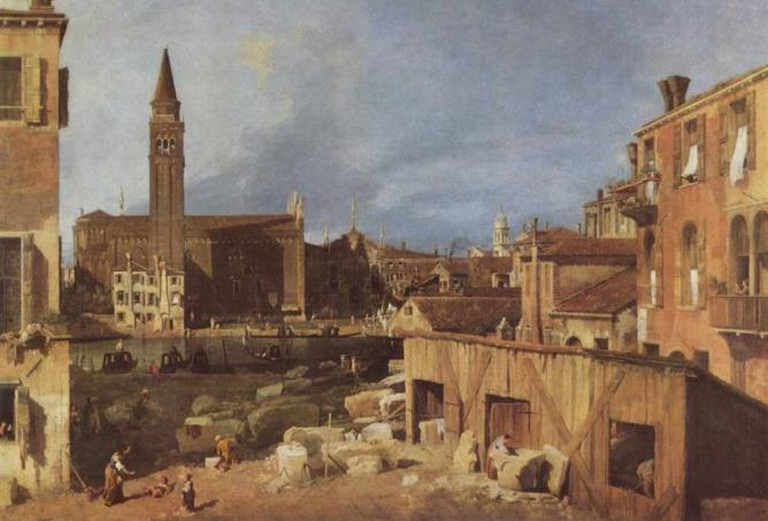 Stonemason's Yard, Canaletto
