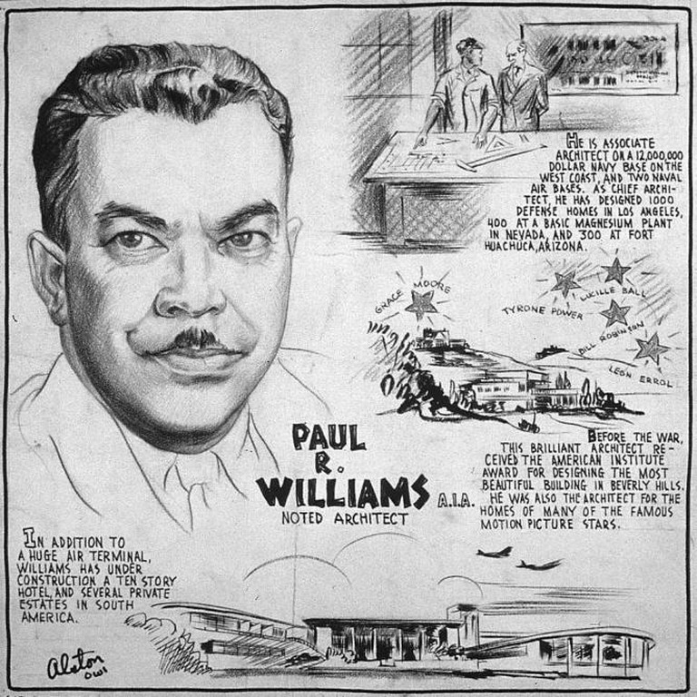 Poster from Office of War Information on Paul Revere Williams, 1943.