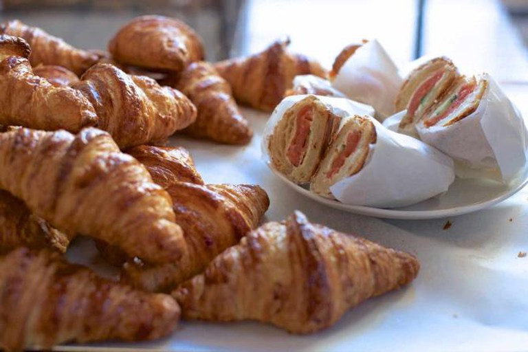 The delicious croissants found at Milk Bakery.