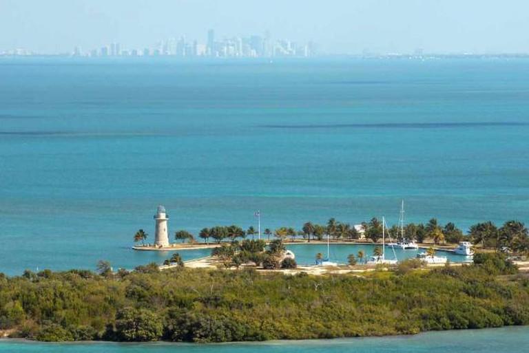 Boca Chita Key and the Miami Skyline, Biscayne National Park | Courtesy U.S. National Park Service