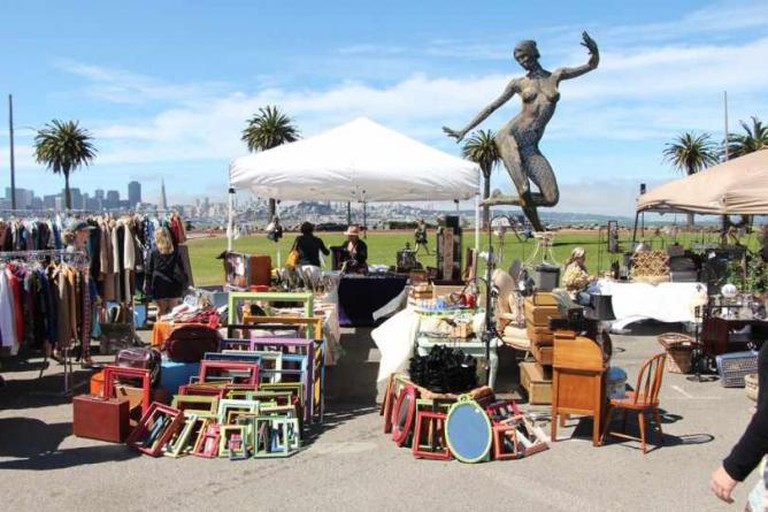 Vintage goods at Treasure Island Flea
