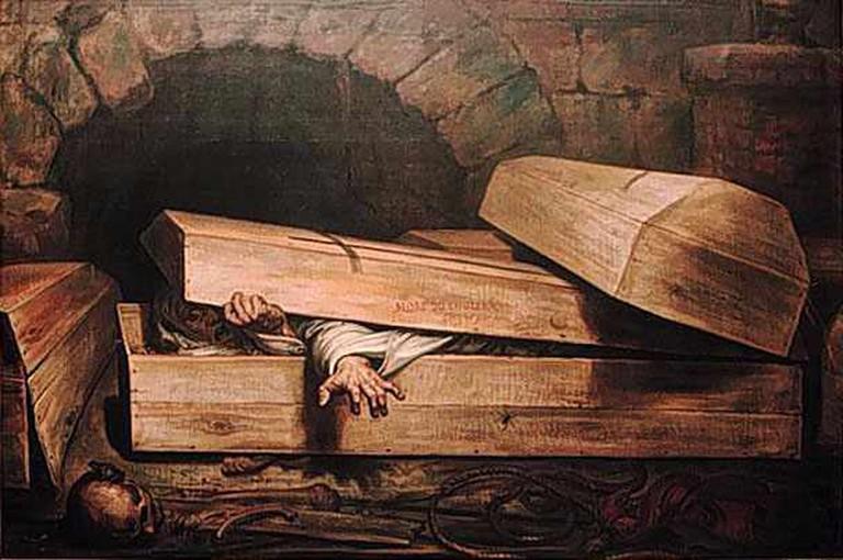 The Premature Burial (1854)|© Antoine Wiertz/Wikicommons