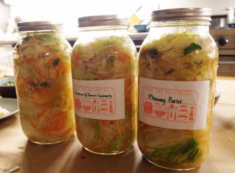The White Kimchi jars