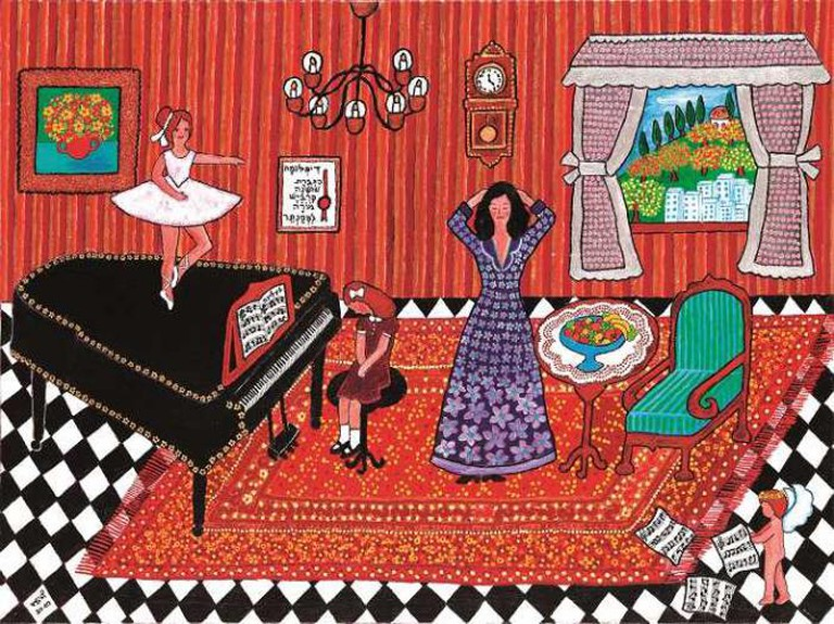 Nira Lev, Not Piano… I Want Ballet 2010, acrylic on canvas, Israel|Courtesy GINA