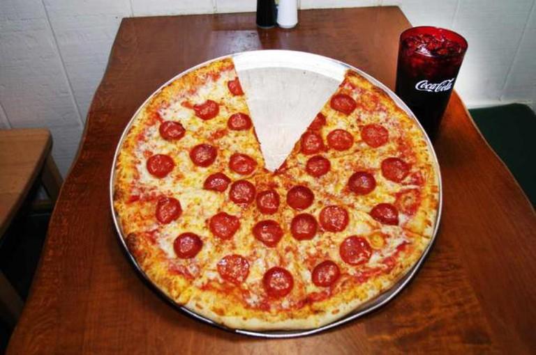 Pepperoni pizza at Big Bill's | Courtesy of Big Bill's NY Pizza