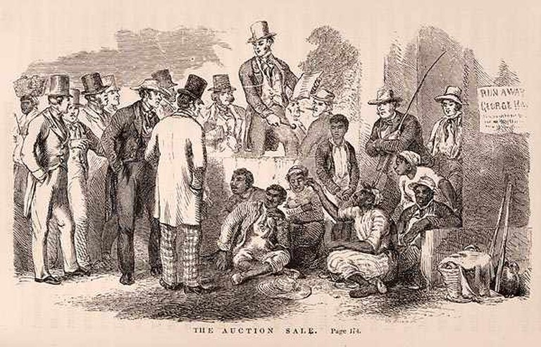An illustration from the first edition of 'Uncle Tom's Cabin   Public domain