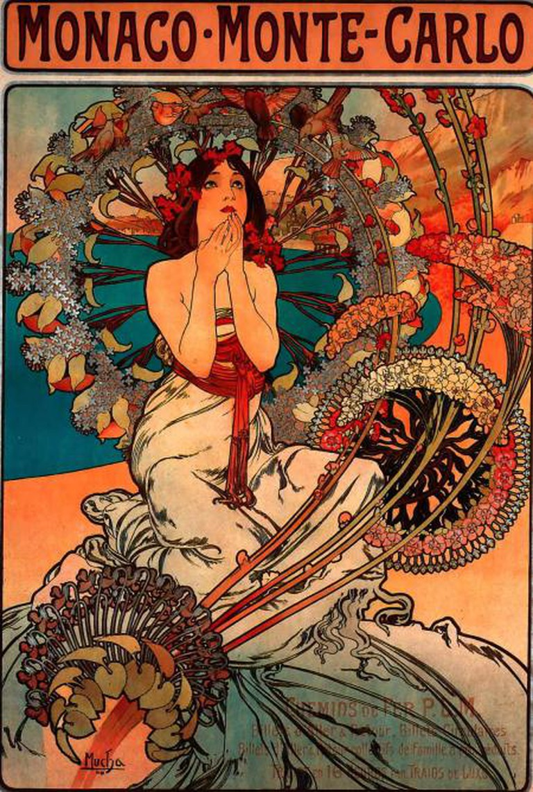Monaco Monte Carlo by Alfons Mucha (1897) | © Swallowtail Garden Seeds/Flickr