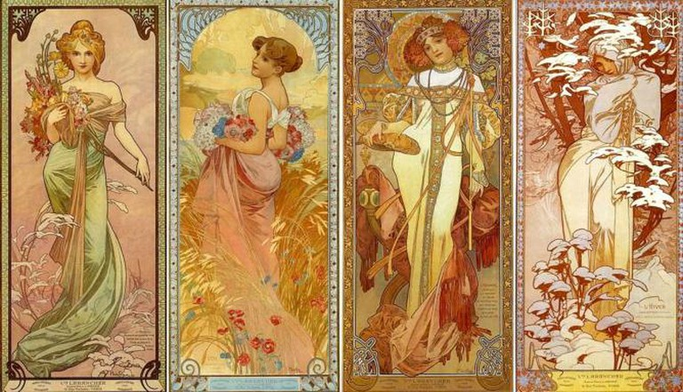 Les Quatre Saisons by Alfons Mucha (1902) | © Swallowtail Garden Seeds/Flickr