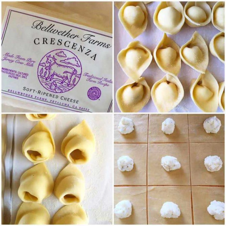 Hand made pasta filled with Bellwether Cheese
