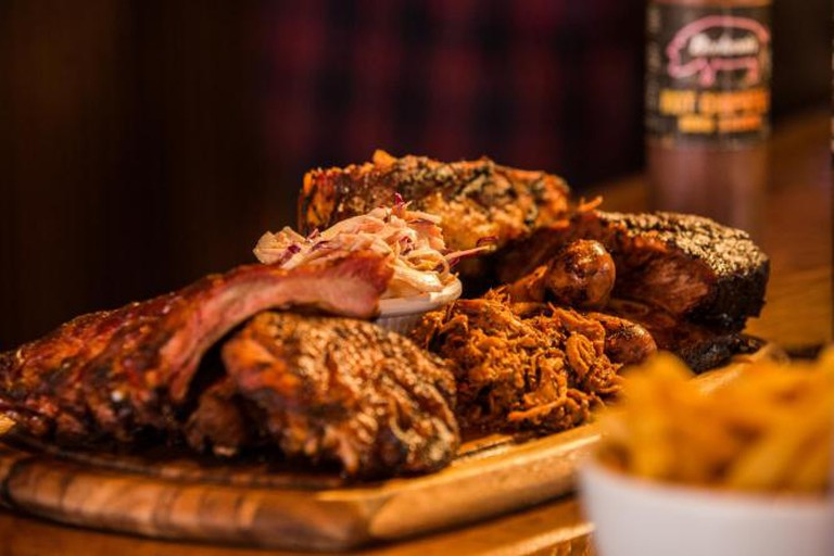 Bodean's Platter | Courtesy of Bodean's BBQ