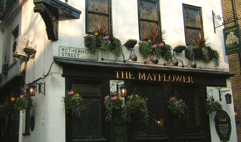 The front of The Mayflower hiding its spectacular views