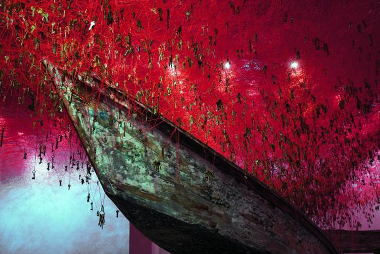 The Key in the Hand, 2015, Photo by Sunhi Mang, Courtesy of Chiharu Shiota