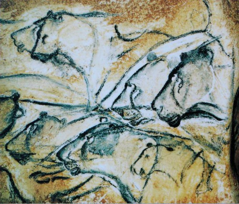 Replica of lions painted in the Chauvet Cave | © Eigenes Werk/WikiCommons