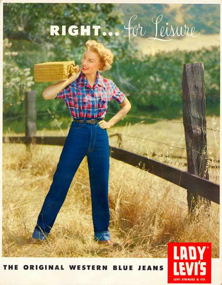An early ad for Lady Levi's © Levis