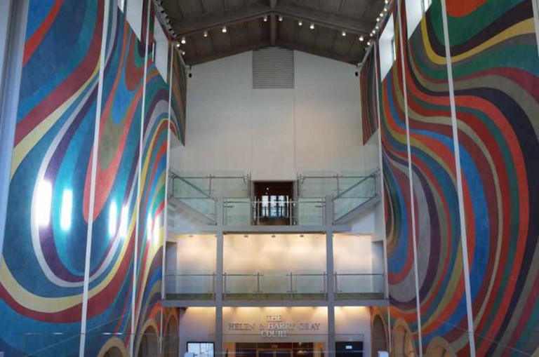 A mural at Wadsworth Atheneum Museum of Art