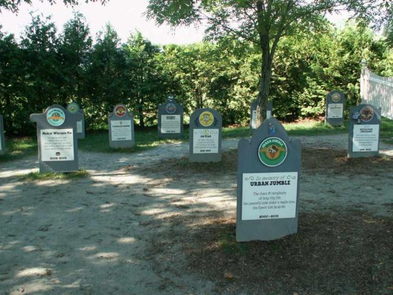 The flavor graveyard at Ben & Jerry's Factory